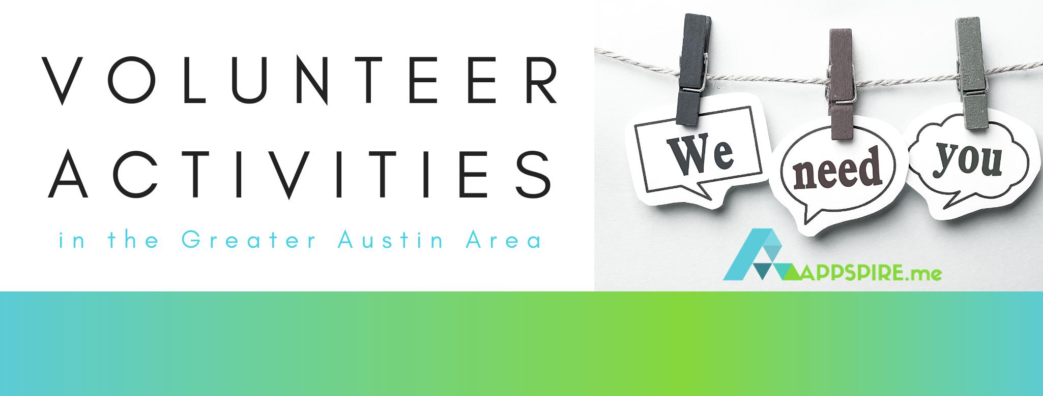 Volunteer Activities in the Austin Area